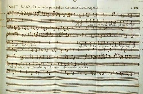 016- Códice Trujillo-partitura Andantino tonada el Diamante para baylar Cantando de Chachapoias-T2-E187