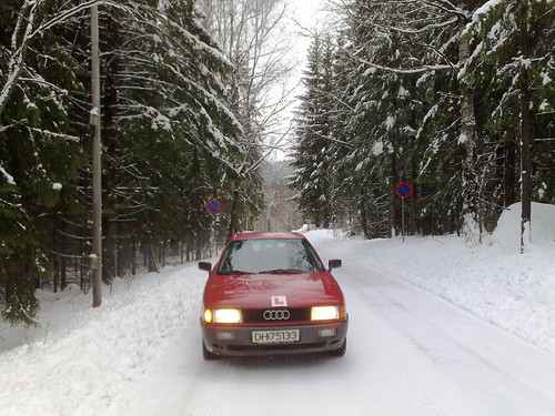Car driving lessons in snowy Norway #1