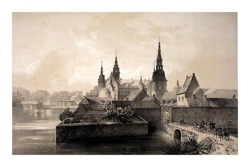 015- La torre del castillo de Frediksborg desde el oeste- Dinamarca 1839