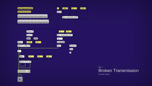 Day 11 - Broken Transmission