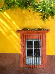 catching some rays (msdonnalee) Tags: window yellow mxico jaune mexico ventana fenster  finestra amarillo gelb giallo sanmigueldeallende mexique janela fenetre mexiko messico venster    i   colourartaward donnacleveland photosofsanmigueldeallende photosbydonnacleveland