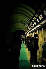 tunnel (Chris Crisp) Tags: chicago dark subway lights cta board platform tunnel el tourists jackson passengers foreign redline travelers chicagotransitauthority canoneos50d
