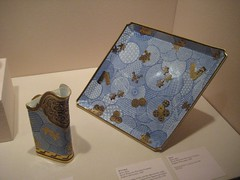 Pitcher and Tray (unforth) Tags: newyorkcity newyork art english museum european manhattan 19thcentury pottery artmuseum pitchers porcelain uppereastside trays metropolitanmuseumofart decorativeart
