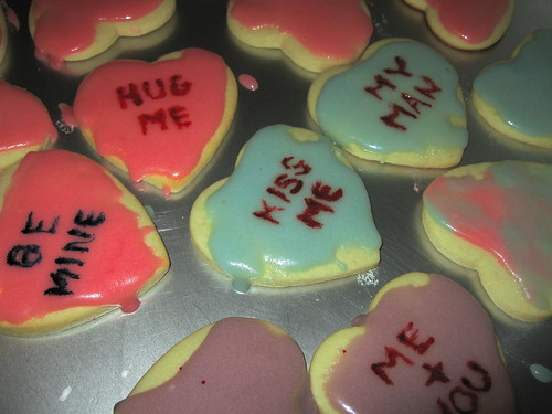 """Conversation Heart"" Cookies"