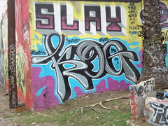 KOG and Slay (Asian Eater) Tags: our graffiti losangeles al tags ne cal crew squid slayer graff 2009 southcentral pdb tko gms eser slay agh kog ecks adze vs269 pleaserespect eckser