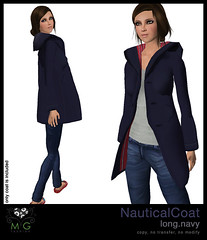 [MG fashion] NauticalCoat.long.navy