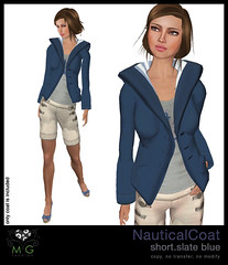 [MG fashion] NauticalCoat.short.slateblue