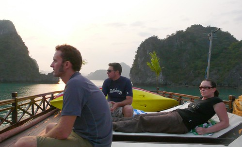 lounging, halong bay