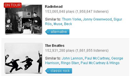 Radiohead, mejores que The Beatles