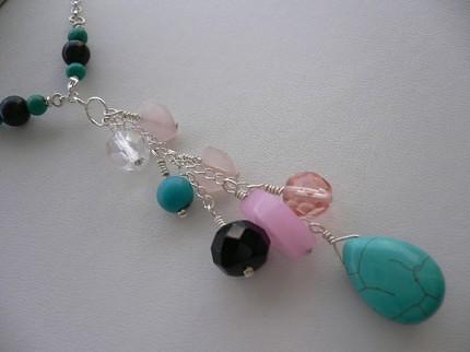 Mixed Gemstone Y Necklace
