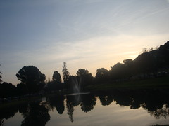 Daybreak at Mirror Lake, Hart Park, Bakersfield, California