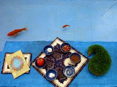 Happy Nowruz (shagreen*) Tags: blue red fish apple water gold persian coin iran wheat newyear bull sumac garlic vinegar iranian newday yazd norooz nowruz noruz  7seen    qoran oleaster   iranmap iranmapcom