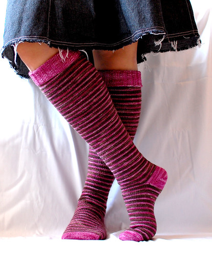 delicious stripey knee socks, finally done!