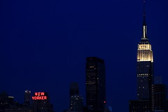 New York City Skyline, Weehawken, NJ (eophir photography) Tags: nyc newyorkcity light skyline night skyscraper canon buildings lights twilight view nightscape nj newyorker empirestatebuilding weehawken 40d canon40d