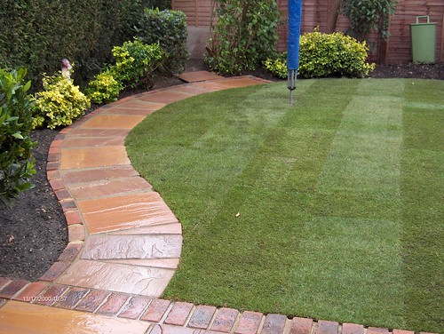 Indian Sandstone Patio and Lawn Image 18