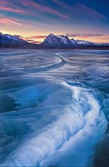 Abraham Lake in Banff National Park (kevin mcneal) Tags: winter lake canada cold ice nature sunrise landscape frozen nationalpark britishcolumbia alberta freeze plains banffnationalpark winterlandscape abrahamlake kootney supershot kevinmcneal canon5dmk2