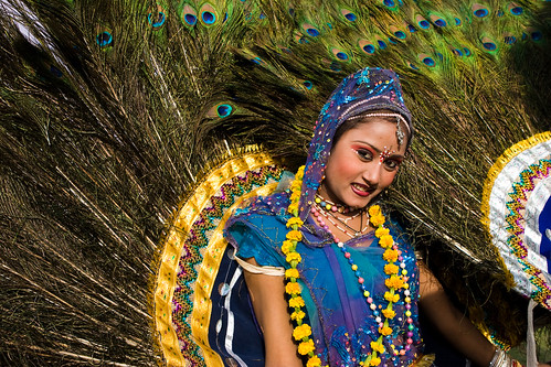 _MG_2264 Peacock the symbol of beauty - Elephant Festival - Jaipur India by © Cameron Herweynen.