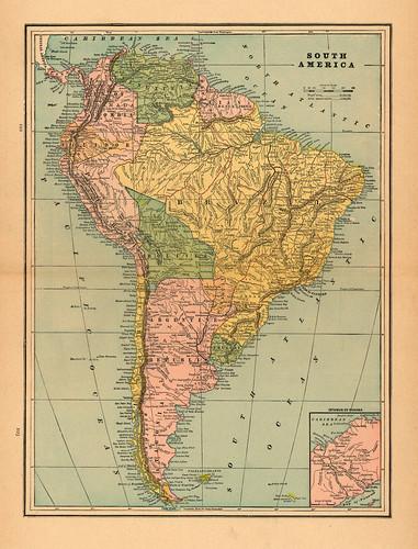 117 Mapa antiguo América del Sur (South America old map)