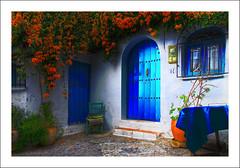 Blå dörr frigiliana
