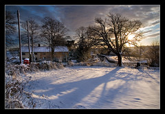 Photographer's Heaven (Roger.C) Tags: winter sunset sun snow beauty field wales canon painting shadows blended wfc supershot devauden abigfave platinumheartaward
