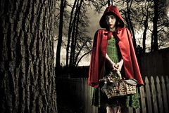 little red riding hood (metakephoto) Tags: pictures dark costume scary little creepy story fairy littleredridinghood hood tale metakephoto jeffmawer tarawalker cintiquefemme