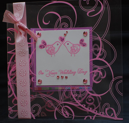 Wedding Card, Tweet Birds Wedding Invitations idea, samples, wedding card, pink color, wedding invitation, flowers, photos