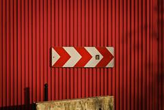 Nation to Mars (janbat) Tags: red paris france metal 35mm rouge nikon nation f2 signalisation poteau d200 nikkor circulation panneau travaux tle jbaudebert