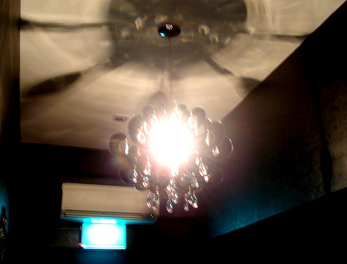 hypnotic chandelier @ client's place