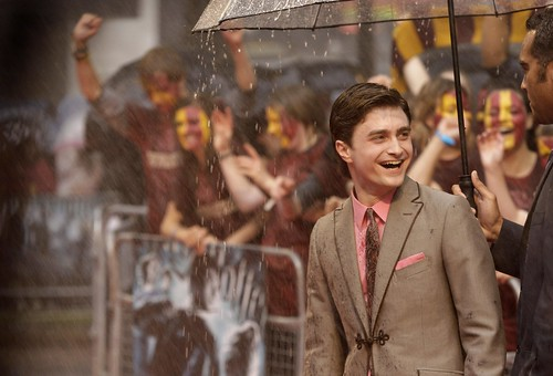 Daniel Radcliffe at Harry Potter Premiere (AP Photo/Joel Ryan)