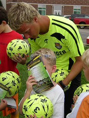 JT signing Will's Shirt