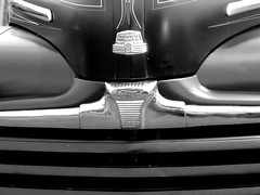 Ford Grill (frankieleon) Tags: bw ford car interestingness interesting bestof front grill cc creativecommons hood popular blackandwhtie automaker frankieleon