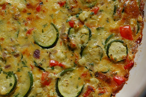 Sweet Corn and Zucchini Gratin With Fresh Basil