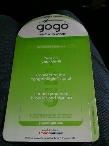 gogo wifi ready!