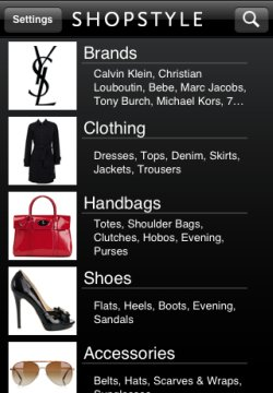 ShopStyle app navigation