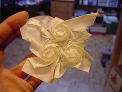 "Joel Cooper's ""Whirls"": Front (Daniel Kwan) Tags: design origami pattern joel daniel twist cooper hexagon tessellation kwan whirl danielkwan"