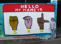 SOL Sign language piece. (supersolveig) Tags: uk sol graffiti montana brighton solveig graphotism