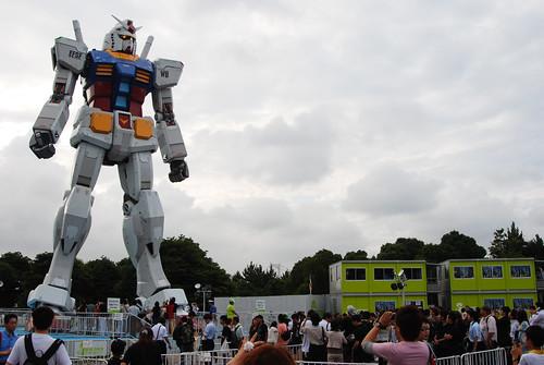 Odaiba: Gundam, meet puny humans. Puny humans, Gundam.