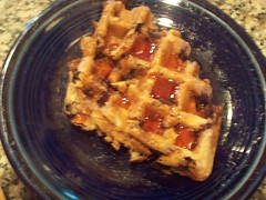 Waffles and Goosebarry Syrup