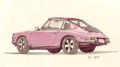 912 (Flaf) Tags: auto colour cars water car pencil 912 stuttgart drawing 911 porsche florian stuttgartwest fuchsfelgen seyfferstrase afflerbach