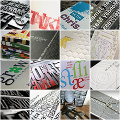 Letterpress Inspiration Board 8.13.09