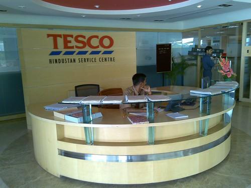 Tesco reception