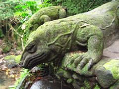 IMG_0082 (dlecka2) Tags: bali tanahlot monkeyforest lizardsculpture