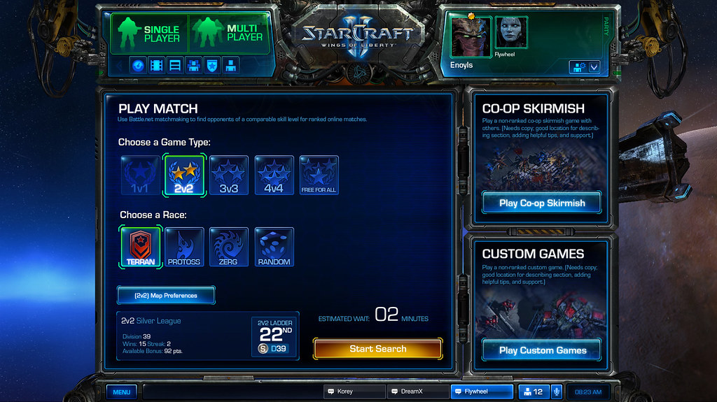 sc2 matchmaking greyed out