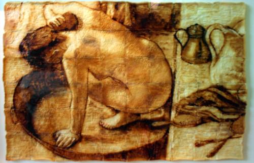 20090805 - Ripley's Believe It Or Not! museum - art - toast art - Dega's ''Woman In Bath'' replica - (by Ryan S) - 3794711361_6dba9ab3df_o