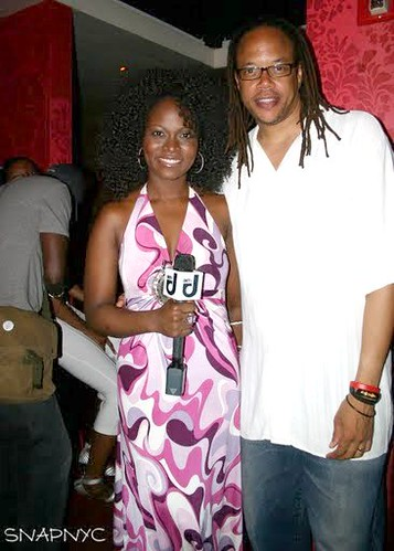 Throwback Pic of Abiola Abrams Hosting BET J Red Carpet