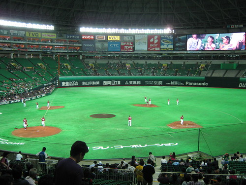 Not a bad field, for a dome, buy why bother with artificial turf when youve got a retractable roof?