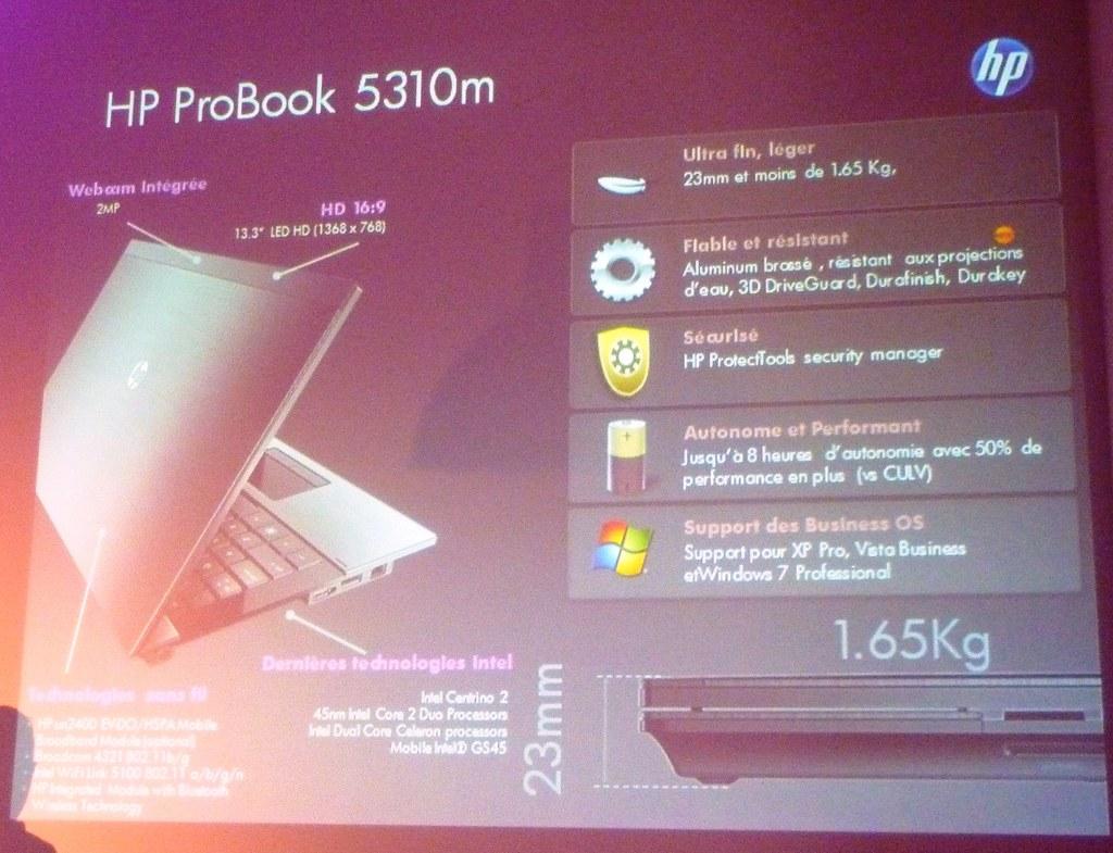 Slide HP ProBook 5310m