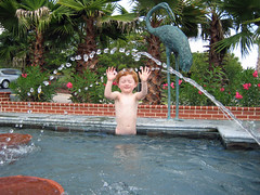 Yeahhhhhh (babyfella2007) Tags: life park county flowers trees boy red playing jason tree beach sc heron water fountain pool statue bronze hair living october jasper child grant south low country young michelle son palm southern coastal taylor carolina myrtle ralph oleander municipal splashing lowcountry ridgeland washingtonia tuten leesville batesburg