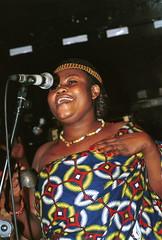 Mac Tontoh Project from Ghana at the Africa Centre London July 2001 049 dancer (photographer695) Tags: world africa from 2001 music london mac african centre band july jazz ghana warriors ashanti kete trumpeter amanas osibisa tontoh nanaeba exosibisa