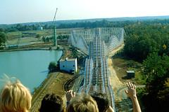 "Kings Dominion - ""Rebel Yell"" Roller Coaster (roger4336) Tags: virginia wooden richmond amusementpark rollercoaster 1979 themepark doswell kingsdominion rebelyell kingcobra kingkobra"